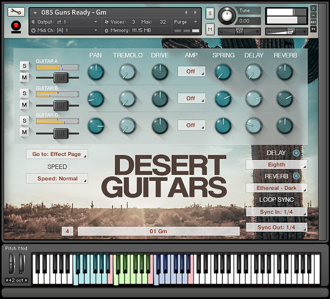 Desert Guitars - Kontakt User Interface 1
