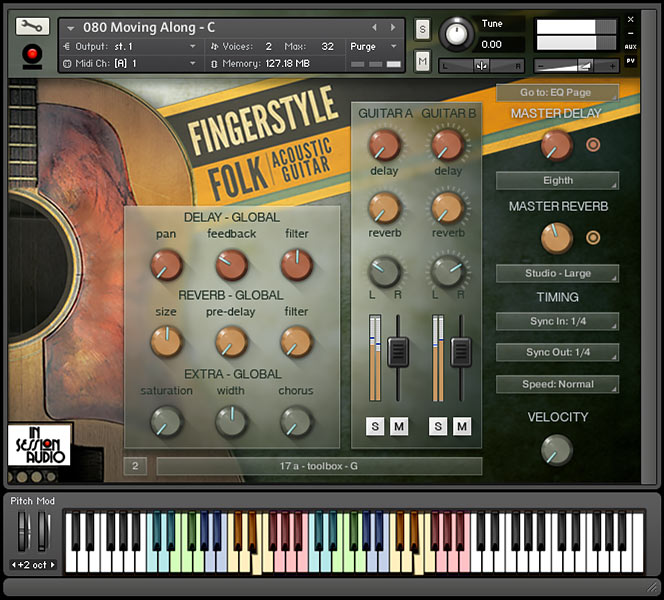 Fingerstyle Folk Acoustic Guitar - Kontakt User Interface 1