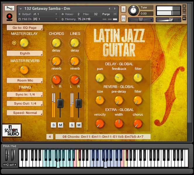 Latin Jazz Guitar - Kontakt User Interface