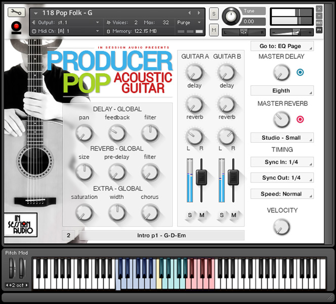 Producer Pop Acoustic Guitar - Kontakt User Interface