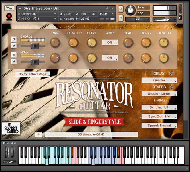 Resonator Guitar - Kontakt User Interface 1