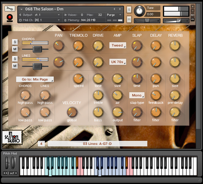 Resonator Guitar - Kontakt User Interface 2