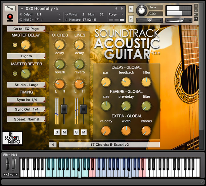 Soundtrack Acoustic Guitar Vol 2 - Nylon String Edition - Kontakt User Interface