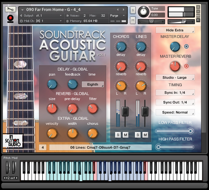 Soundtrack Acoustic Guitar Vol 1 - Kontakt User Interface