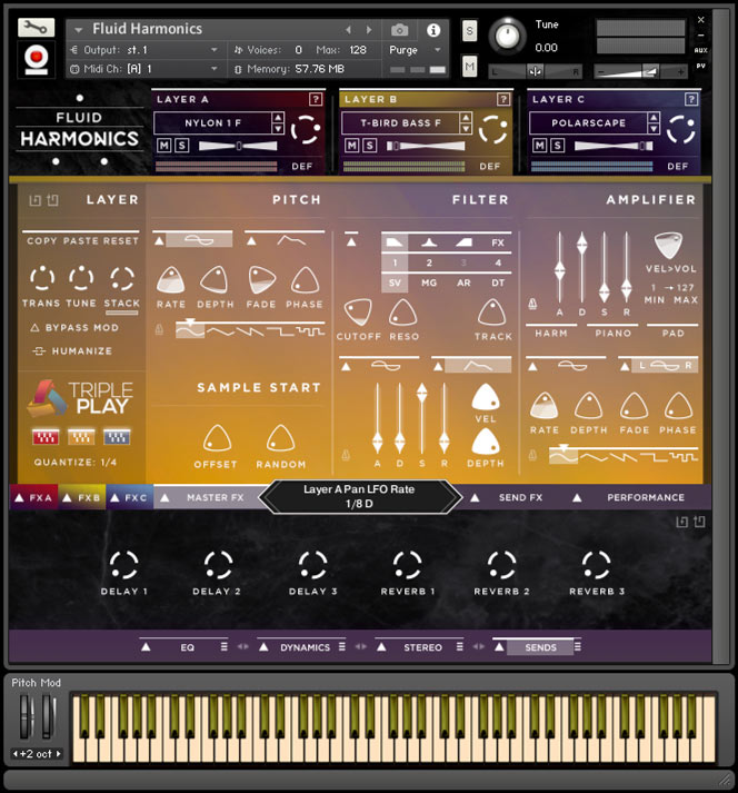 Fluid Harmonics - Kontakt User Interface 1