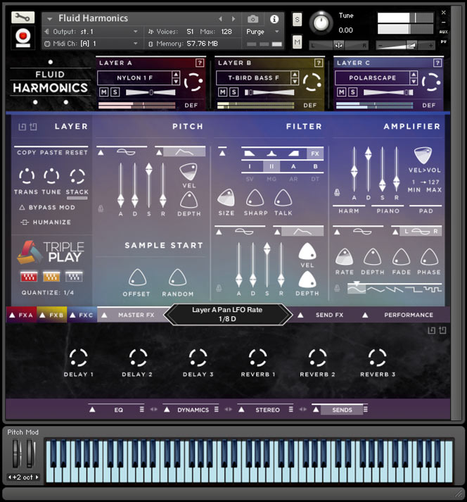 Fluid Harmonics - Kontakt User Interface 2