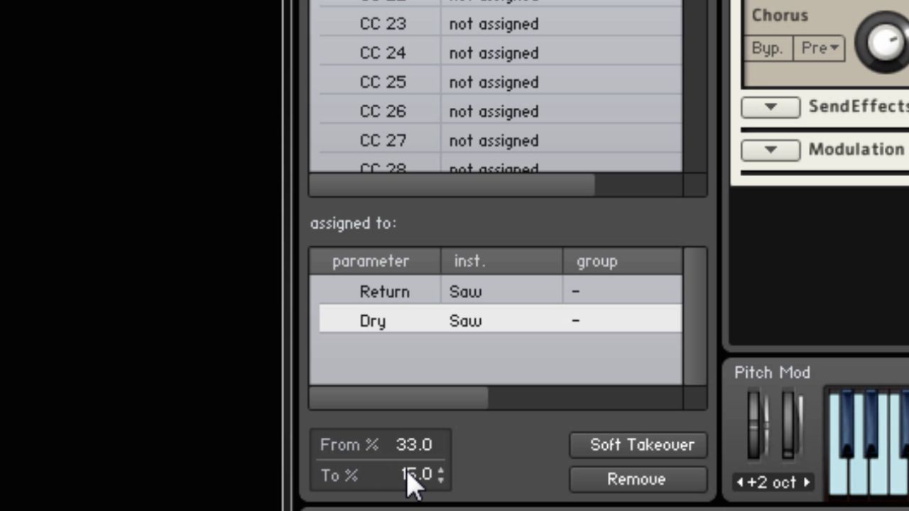 Kontakt-Setting up MIDI Learned parameters in opposite directions