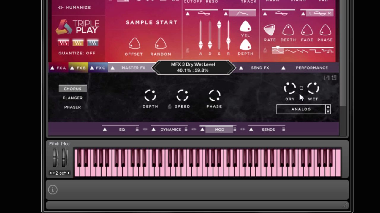 Kontakt - Linked Wet Dry parameters in Fluid Harmonics