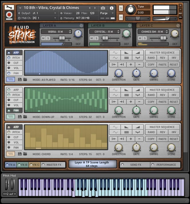 Fluid Strike - Kontakt User Interface 2