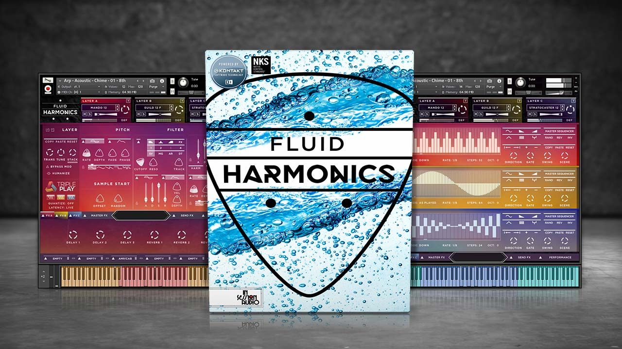 Fluid Harmonics Guitar Sample Library for Kontakt and Kontakt Player