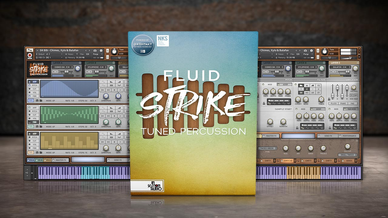Fluid Strike Tuned Percussion Sample Library for Kontakt and Kontakt Player