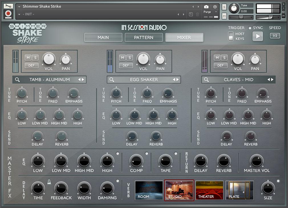 Shimmer Shake Strike - Mixer Page