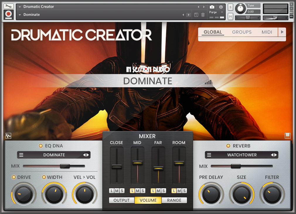 Drumatic Creator - Main Page