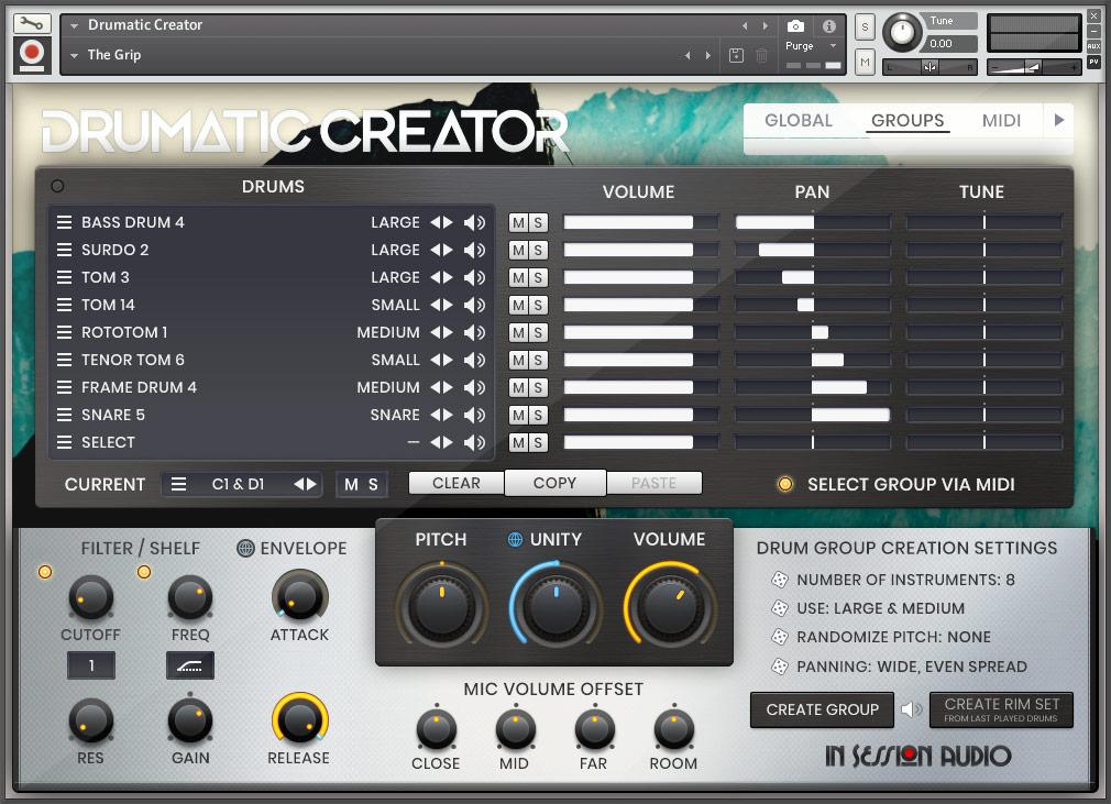 Drumatic Creator - Groups