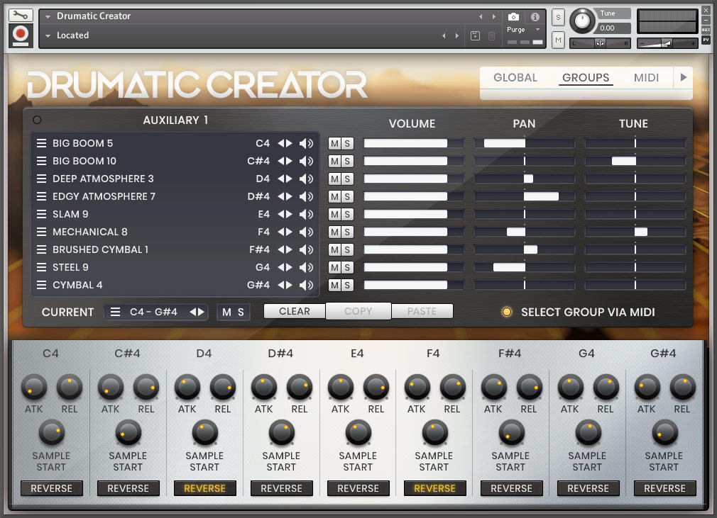 Drumatic Creator - Bamboo Forest - Aux Page