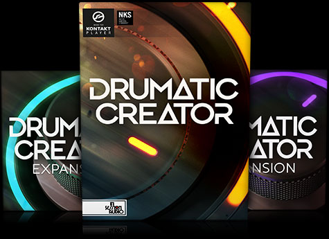 Drumatic Creator - Tom, Bass and Snare Drum Sample Library - Kontakt Player