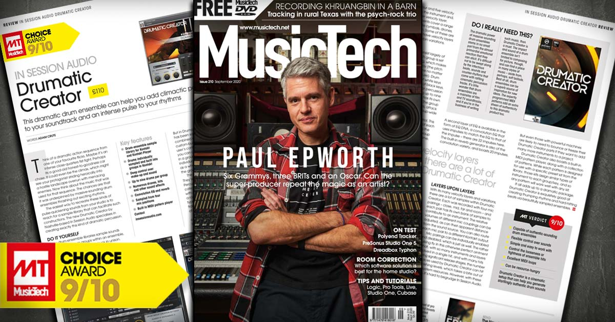 Drumatic Creator Review from Music Tech Magazine