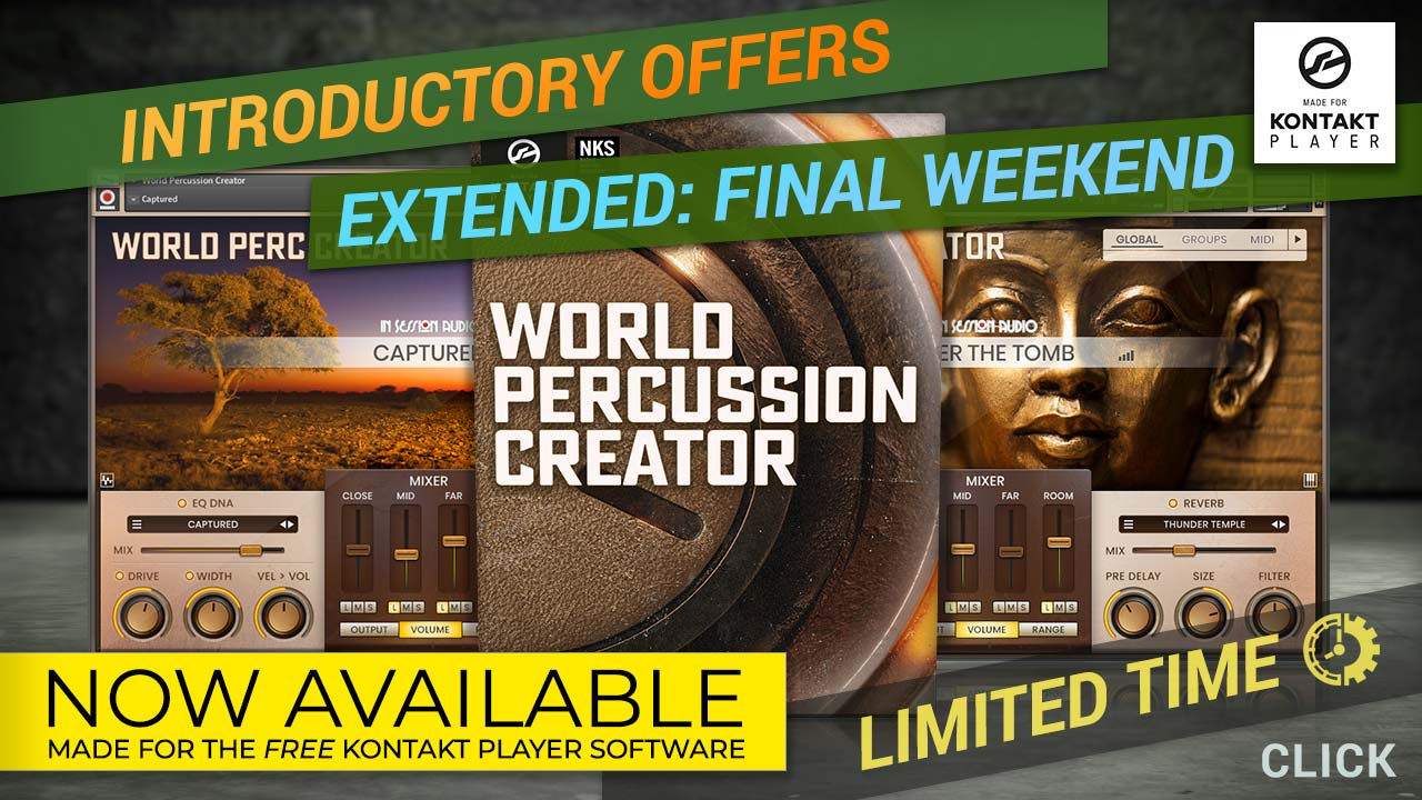 World Percussion Creator - Kontakt Player Sample Library - Ethnic & Hand Played Drums