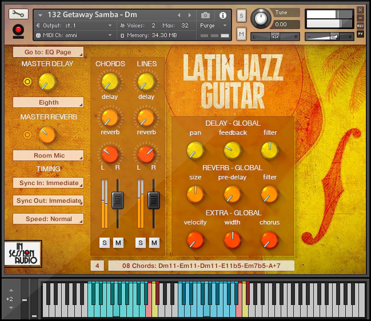 Latin Jazz Guitar - Kontakt User Interface