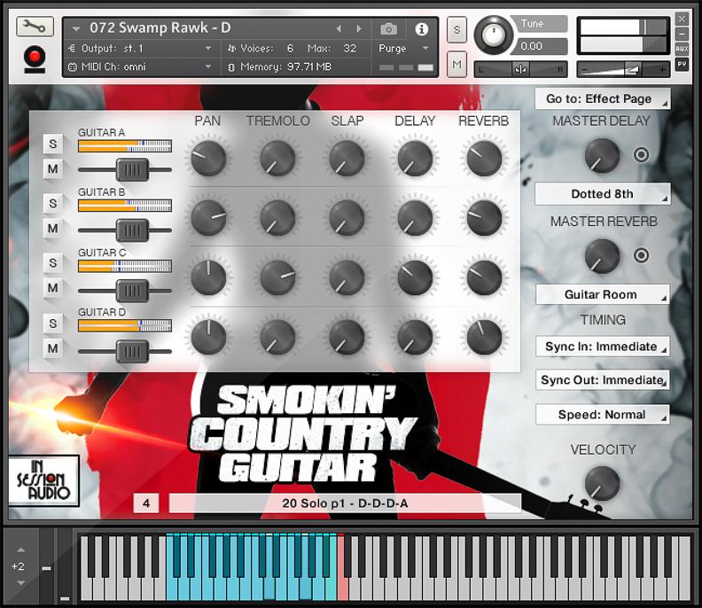 Lowdown Groove Guitar - Kontakt Interface 1